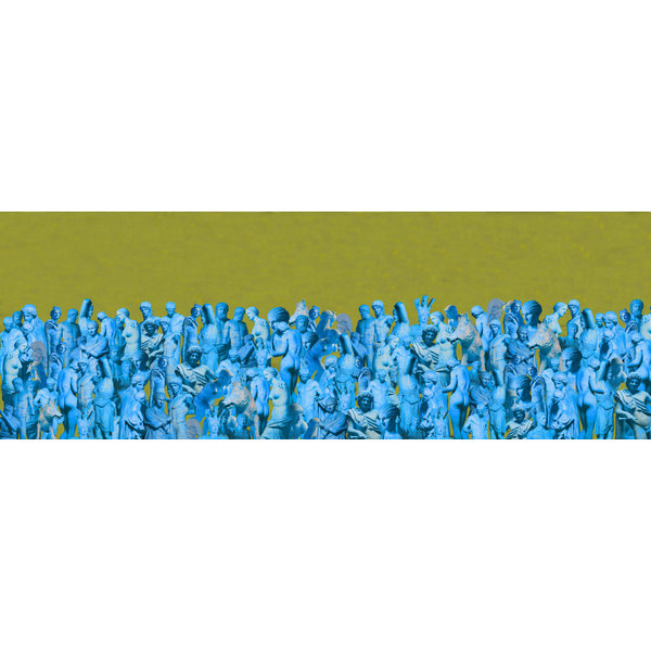 Cast of 1000 Silk and Wool Scarf  lime-turquoise  016