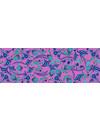 Seda Iznik y bufanda modelo azul - rosa 014