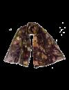 Bufanda Seda y Modelo Árbol de la Vida negro 019