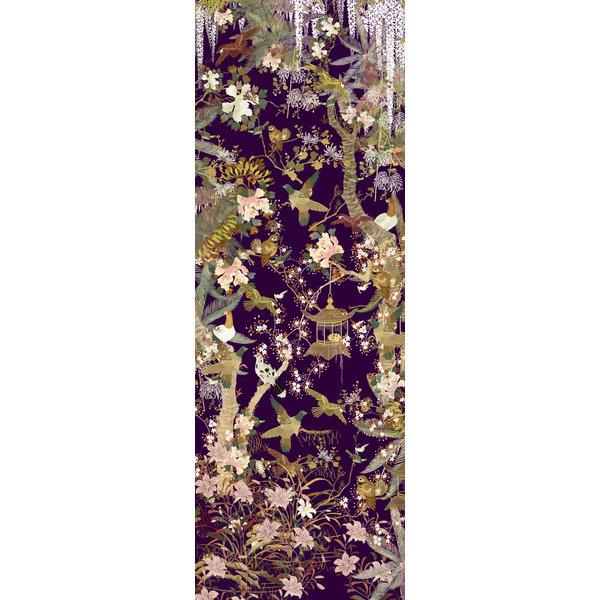 Baum des Lebens Seide und Model Scarf schwarz 019