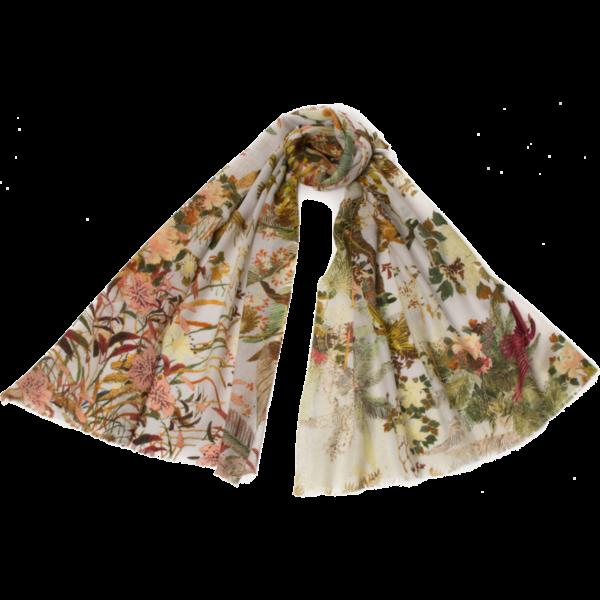 Seda del árbol de la vida y modelo bufanda plata 020
