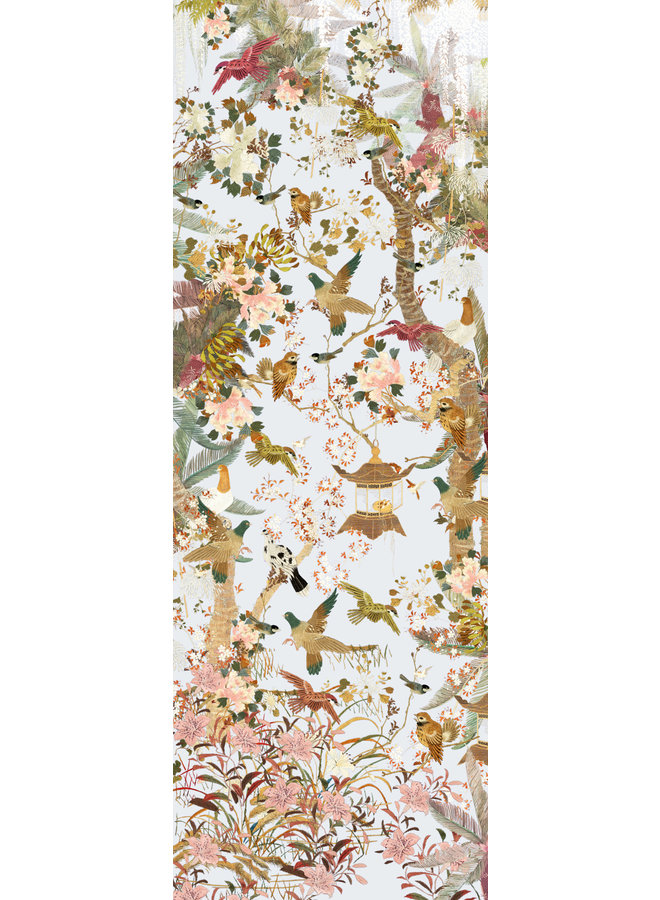 Baum des Lebens Seide und Model Scarf Silber 020