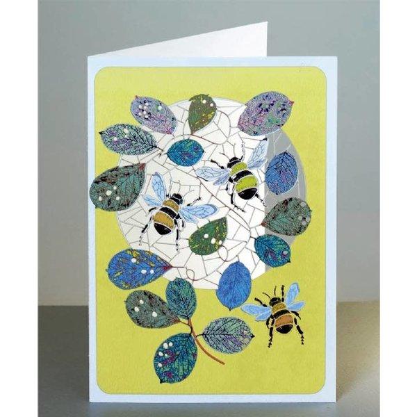 Bumble bees Tarjeta de corte laser