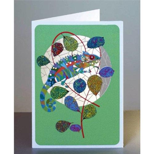 Forever Cards Tarjeta de corte camaleón lazer