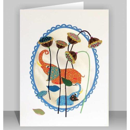 Forever Cards Tarjeta de corte Elephantsl Lazer