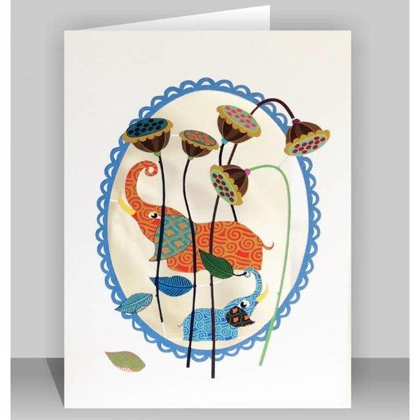 Elefantl Lazer Schnittkarte