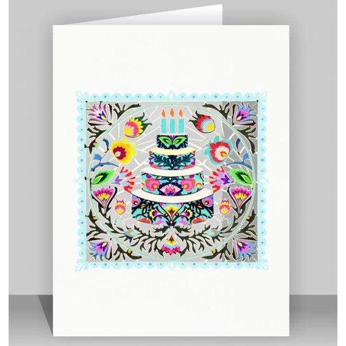 Forever Cards Folk art cake Laser cut card