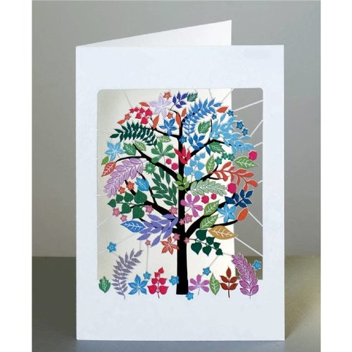 Forever Cards Multicoloured Tree Laser cut card