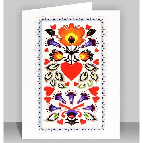 Forever Cards Orange Flower Burst  Laser cut card