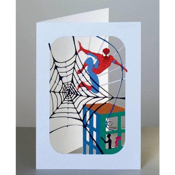 Spider Superhero Lazer corte tarjeta