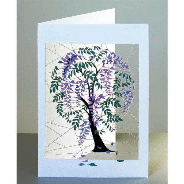 Tarjeta de corte láser Wisteria Tree