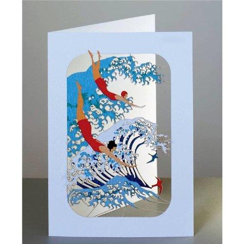 Forever Cards Ola y nadadores