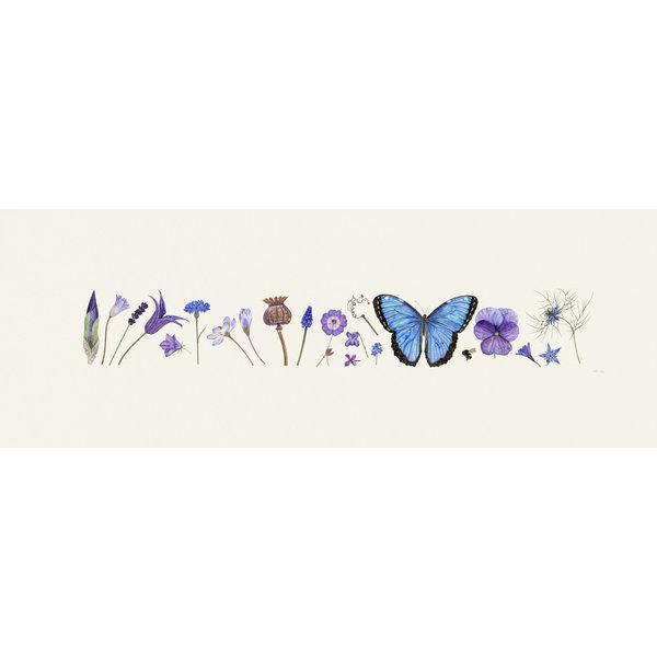 Estampado Blue Flora y Bee Line - edición de 200 con soporte 011