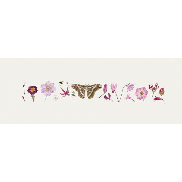 Estampado Pink Flora y Bee Line - edición de 200 con soporte 014
