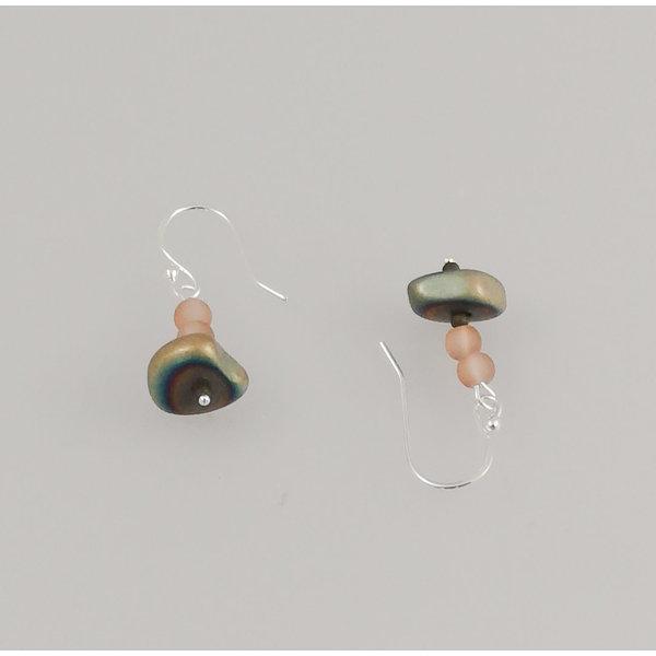Hämatit Silberhaken Ohrringe 74