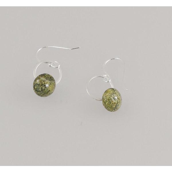 Russian Serpentine silver hook Earrings 76