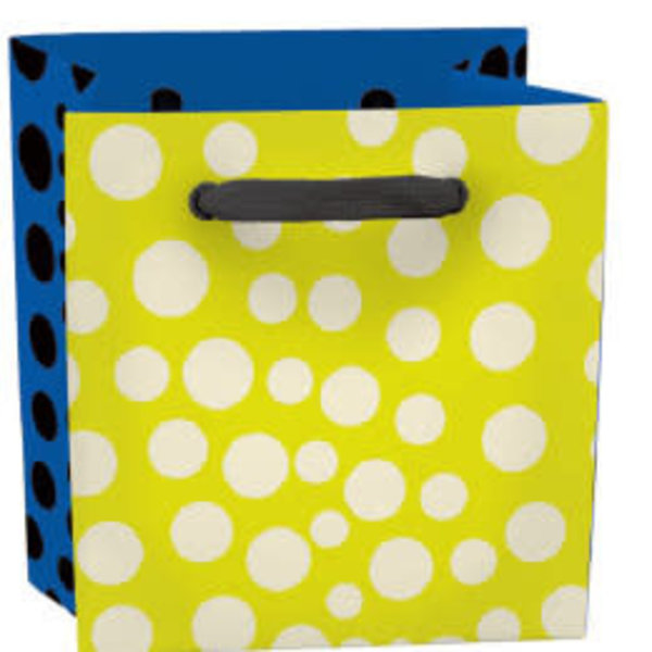 Dotty mini bag - ribbon handle and label