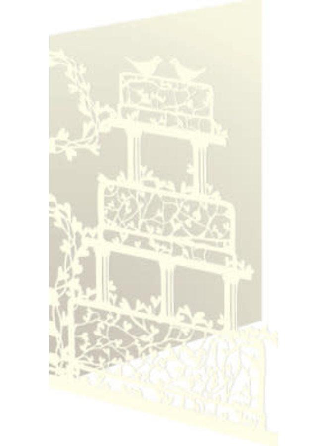 Doves on Wedding Cake Laser Card