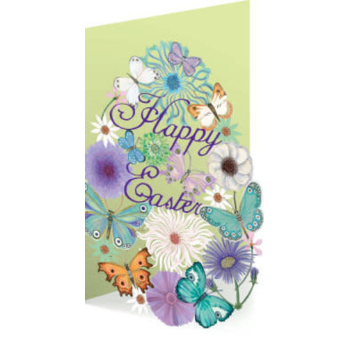 Roger La  Borde Easter Butterfly Laser Card