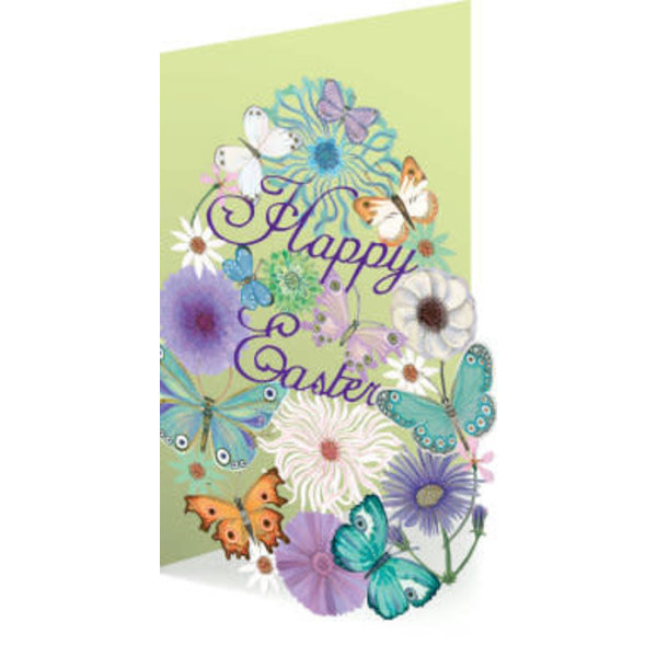 Easter Butterfly Laser Card