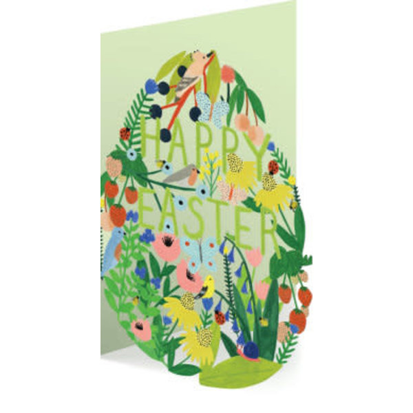 Easter Garden Egg Laser Card