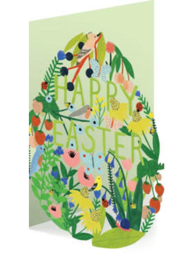 Easter Garden Egg Laser Card