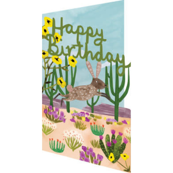 Jumping Hare Laser Card