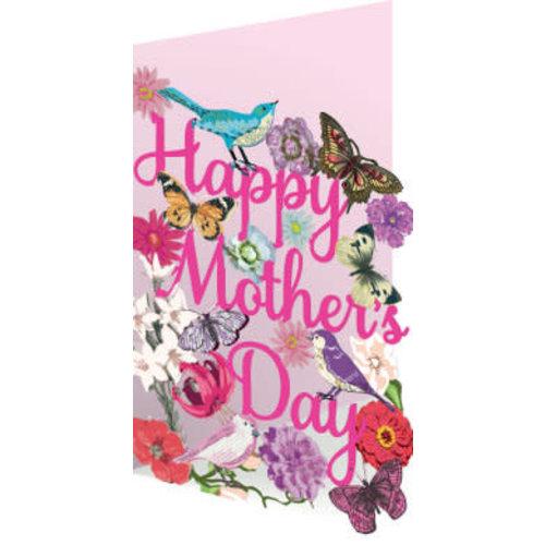 Roger La  Borde Día de la madre, flora y fauna, tarjeta láser.