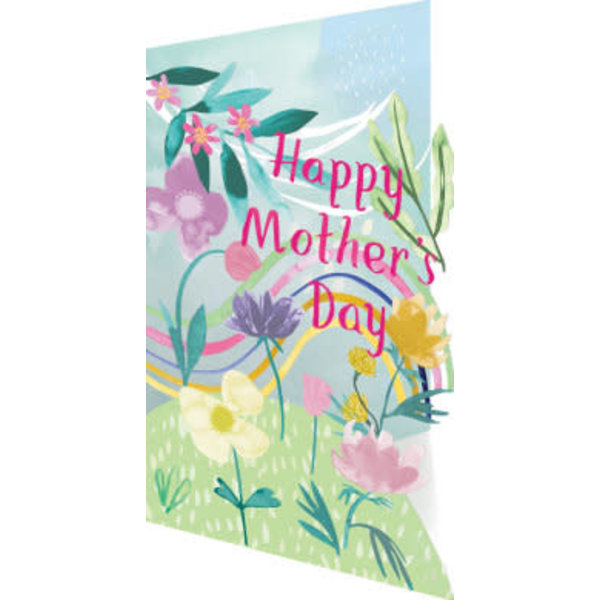 Mothers Day Rainbow card Laser Card