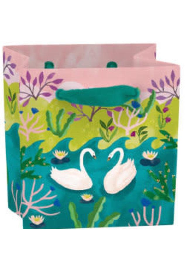 Swans Mini Bag - Bandgriff und Etikett