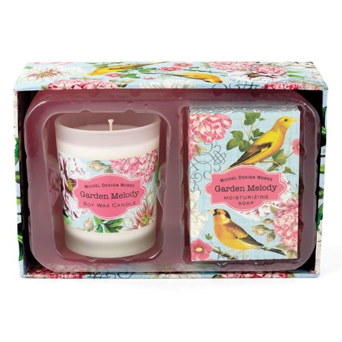 Michel Design Works Garden Melody Candle and Soap Gift Set
