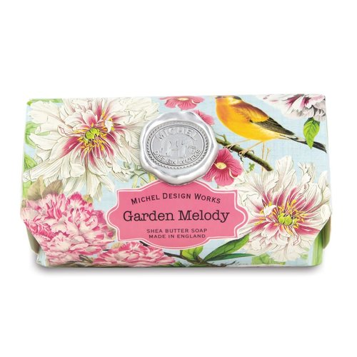Michel Design Works Garden Melody Large Bath Shea Soap Bar