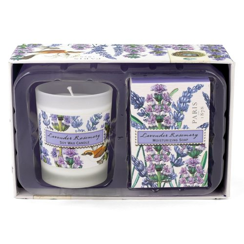 Michel Design Works Lavender and Rosemary Candle and Soap Gift Set