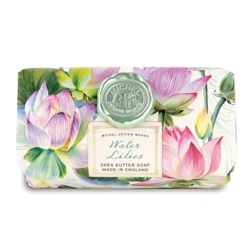 Michel Design Works Water Lilies Large Bath Shea Soap Bar