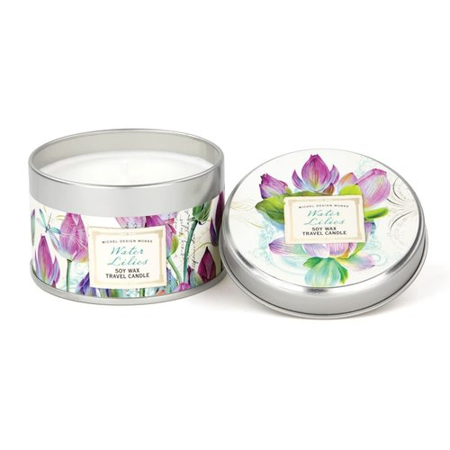 Michel Design Works Water Lily Travel Candle