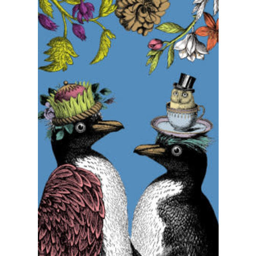 Roger La  Borde Penguin Funky Card