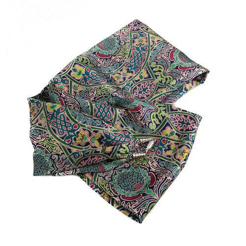 Lady Crow Silks Celtic Twist Multi bufanda de satén y seda con cierre magnético en caja