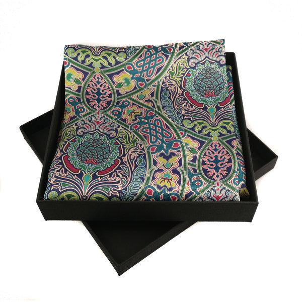 Celtic Twist Multi bufanda de satén y seda con cierre magnético en caja