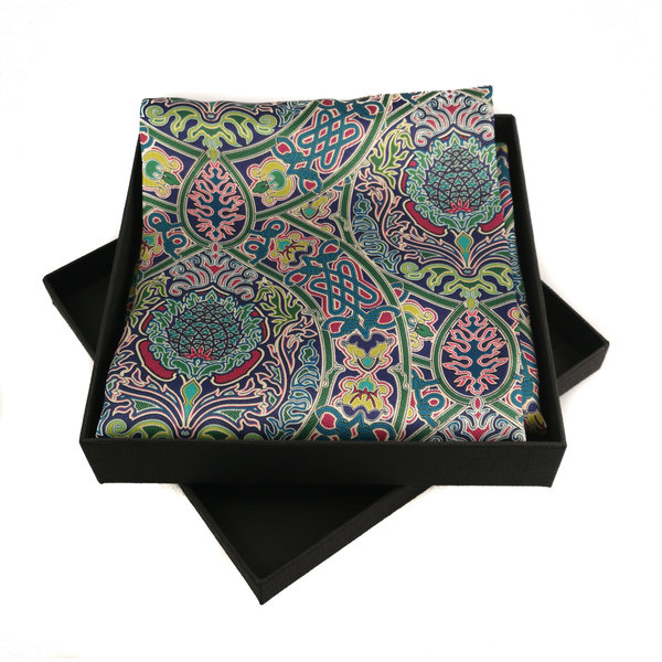 Celtic Twist Multi Satin and Silk Scarf  with magnetic clasp Boxed 96