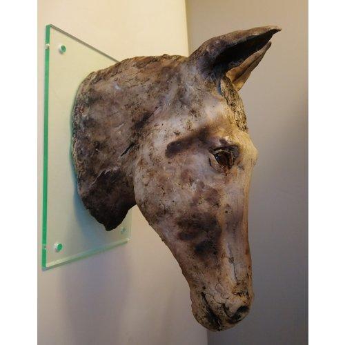 Judy Taylor Horse Head wall work stoneware 02
