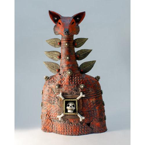 Drew Caines Blood Fox: Memento Mori stoneware 04