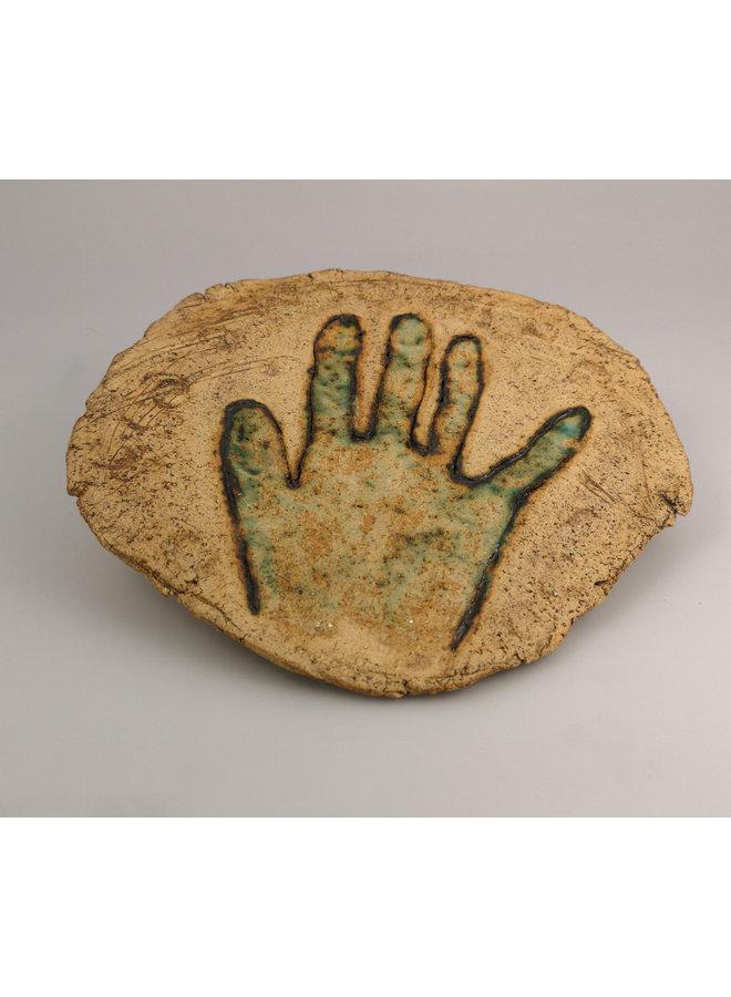 Aging Hands 1 Steinzeugwandplakette 047