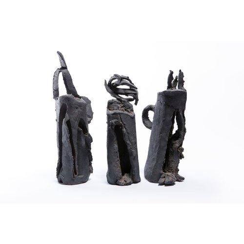 Brian Holland Ancient Sentinels  black stoneware 07