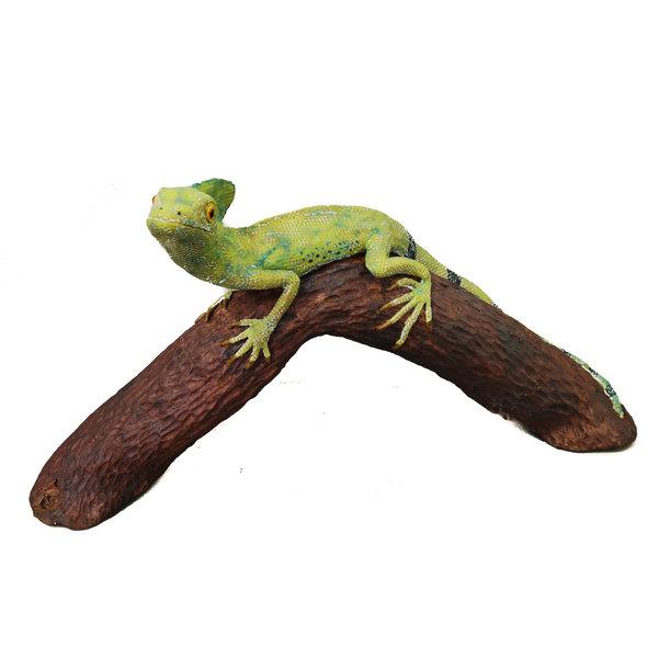 """Victoria"" Basilisk Lizard en rama curva 12"