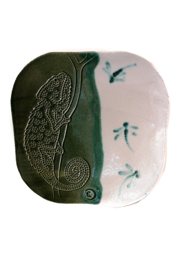 Chamäleonplatte einfach geätzt 21 - Keramik 09