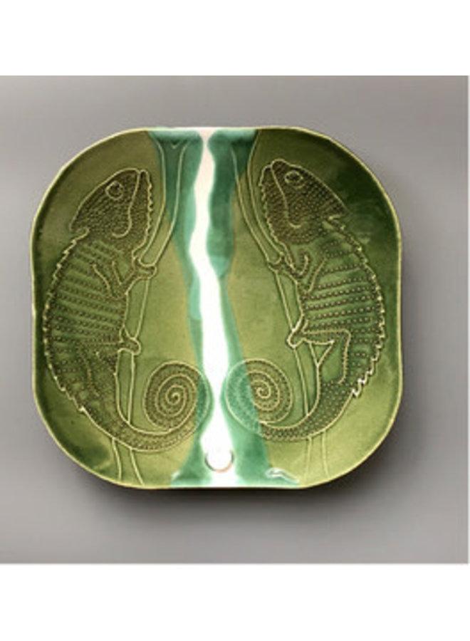 Double Chameleon Plate - ceramic 05