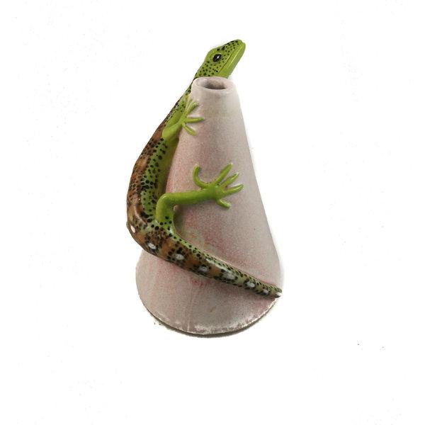 Posy Pot con lagarto de arena 21