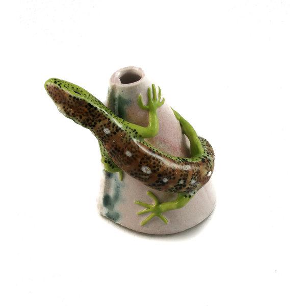 Posy Pot with Sand Lizard  21