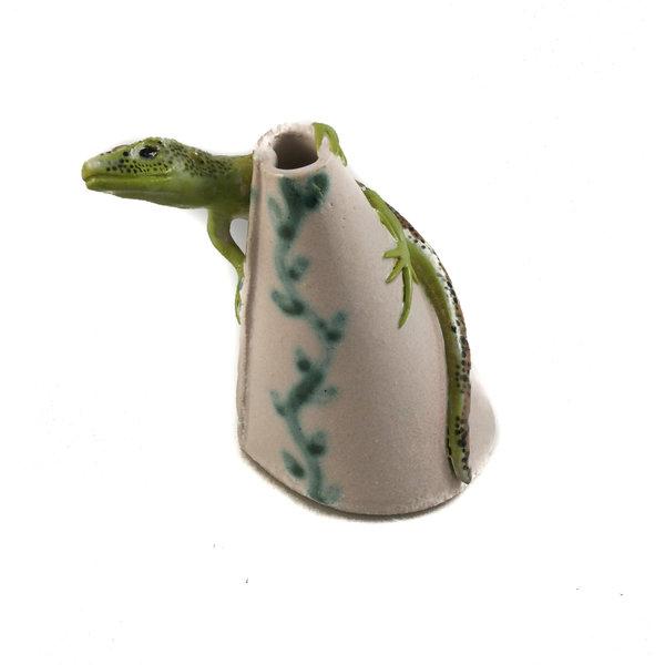 Posy Pot con lagarto de arena 25