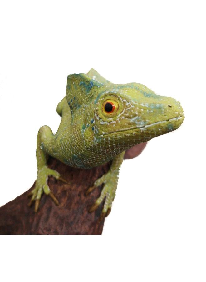 Victoria - Basilisk Lizard on curved brance - ceramic 08
